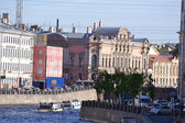 Embankment of river channel in Saint-Petersburg — Stock Photo