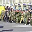 Victory parade in St.Petersburg — Stock Photo