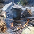 Pan on a fire — Stock Photo #11648958