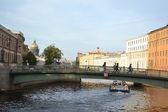 Small bridge in St. Petersburg — Stock Photo