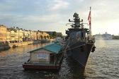 British warship — Stock Photo