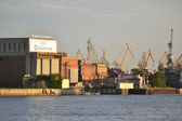 Admiralty Shipyards in St.Petersburg — Stock Photo