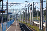 Railway station Kannelyarvi — Stock Photo