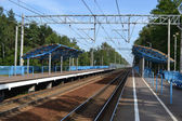 Railway station Komarovo — Stock Photo