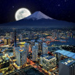 Stock Photo: Surreal view of Yokohama city