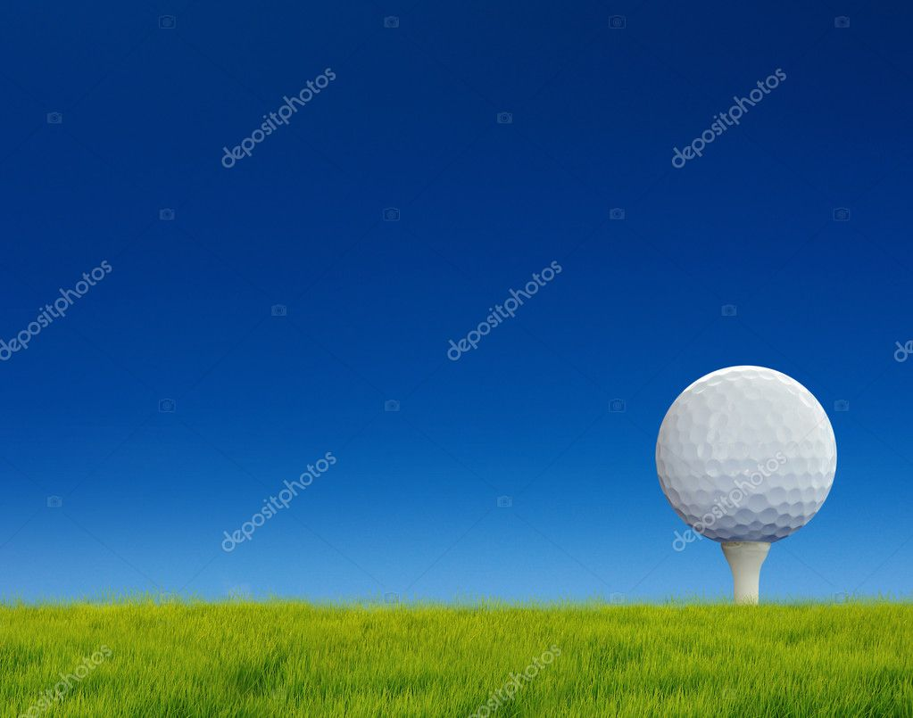 Golf putting on green — Foto Stock #11024240