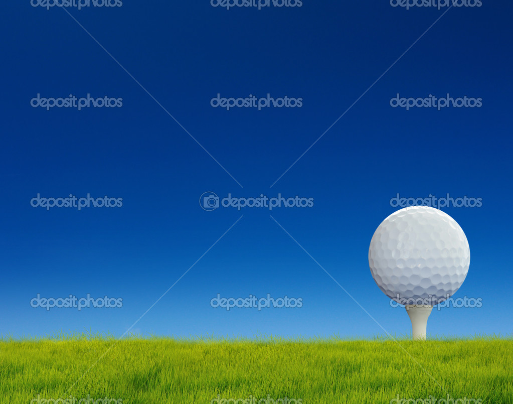 Golf putting on green  Stockfoto #11024240