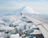 Surreal view of Mt.Fuji view from air plane — Stock Photo