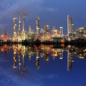 Petrochemical plant — 图库照片