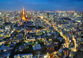 Road to Tokyo Tower — Stock Photo