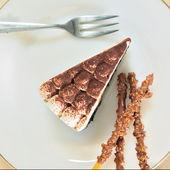 Banana cake chocolate — Stock Photo