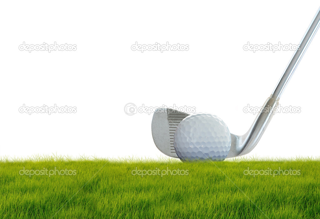 Golf ball on green grass  Stock Photo #11262020