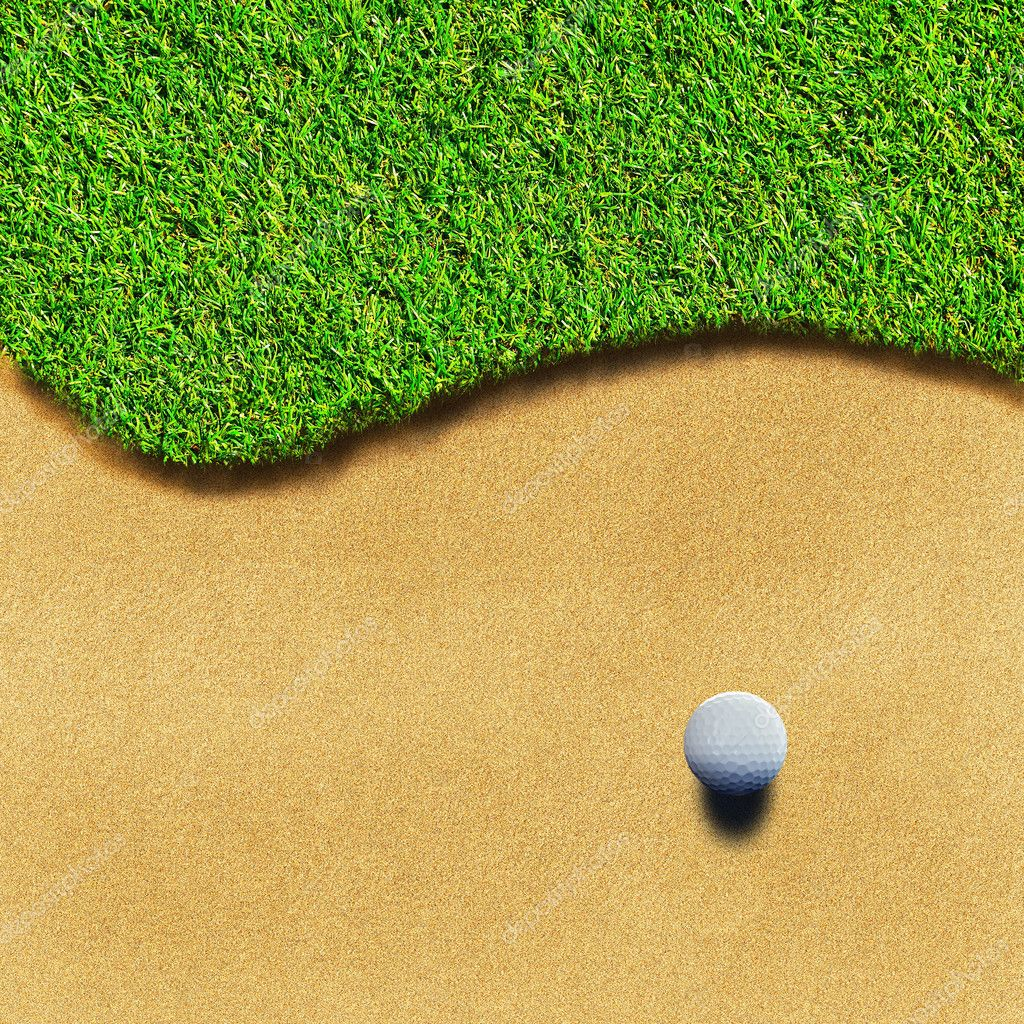 Golf ball on green grass  Stock Photo #11262058