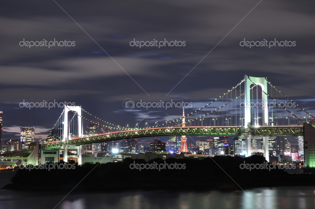 Rainbow Bridge in Tokyo — Stock Photo #11281651