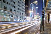 Tsim Sha Tsui Shopping Street at Night — Stock Photo