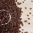 Stock Photo: Fresh coffee beans