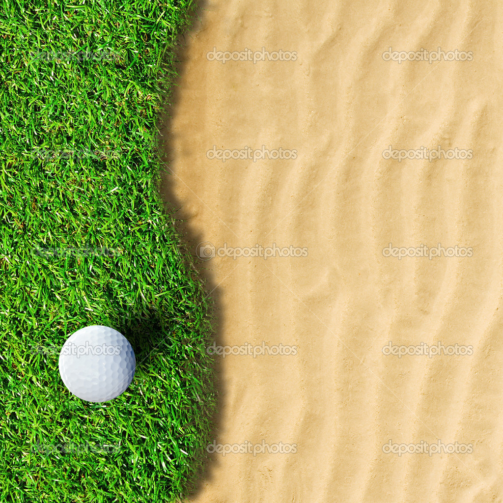 Golf ball on green grass — Stock Photo #12069556