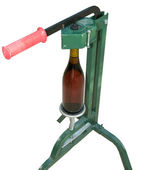 Bottle Capper and wine bottle (front view) — Stock Photo