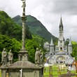 Royalty-Free Stock Photo: View of cathedral in Lourdes