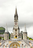 View of cathedral in Lourdes — Stock Photo