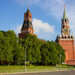 Towers of Kremlin in Moscow — Stock Photo
