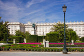 Royal Palace in the center of Madrid — Stock Photo