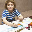 Boy painting — Stock Photo #10770357