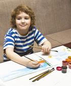 Pintura de menino — Foto Stock