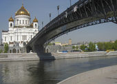 Cathedral of Jesus Christ Saviour, Moscow — Stock Photo