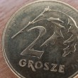 Close up of polish currency - 2 grosze coin — Stock Photo #12365838