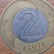 Close up of polish currency - 2 zloty coin — Stock Photo #12365858