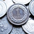 Close up of polish currency - 1 zloty coin — Stock Photo #12365909
