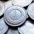 Close up of polish currency - 1 zloty coin — Stock Photo