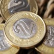 Close up of polish currency - 2 zloty coin — Stock Photo
