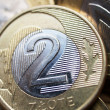 Close up of polish currency - 2 zloty coin — Stock Photo #12365959