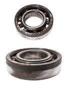 Rusty metal ball bearing isolated on white background — Stock Photo