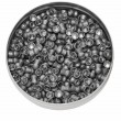 Diabolo pellets, Aluminum can of lead pellets isolated on white - Stock Photo