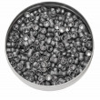 Diabolo pellets, Aluminum can of lead pellets isolated on white — Stock Photo #10931518