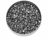 Diabolo pellets, Aluminum can of lead pellets isolated on white — Stock Photo