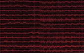 Red graph brain wave eeg isolated on black background, texture — Stock Photo