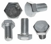 Set screw heads, bolt isolated on white background — Stock Photo