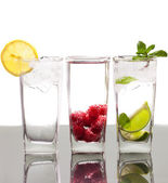 Three colorful alcoholic drinks — Stock Photo