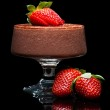 Chocolate mousee dessert with strawberries — Stock Photo #11477977