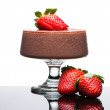 Chocolate mousee dessert with strawberries — Stock Photo #11477980