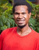 黑皮肤男人的肖像 — 图库照片