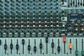 Control audio mixer — Stock Photo