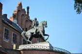 Kosciuszko Monument at Wawel Castle in Krakow — Stock Photo