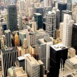 High Rise Buildings at Downtown Chicago Panorama, Illinois — Stock Photo