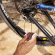Bicycle flat tire — Stock Photo #10942502