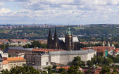 Panorama with prague castle, czech republic — Stock Photo